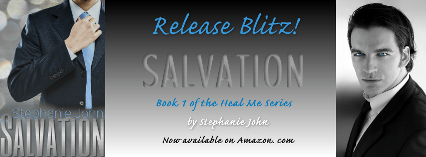 Photo Banner featuring the cover of Salvation, a contemporary romance novel by author Stephanie John